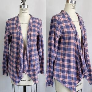 Divided Plaid Shirt, size 10, Open Front
